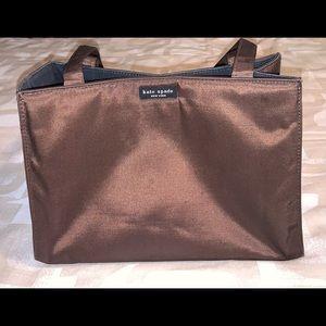 Brown Vintage 90s Nylon Box Tote shoulder bag